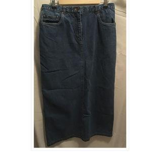 Size 12 Rafaella Denim Maxi Skirt